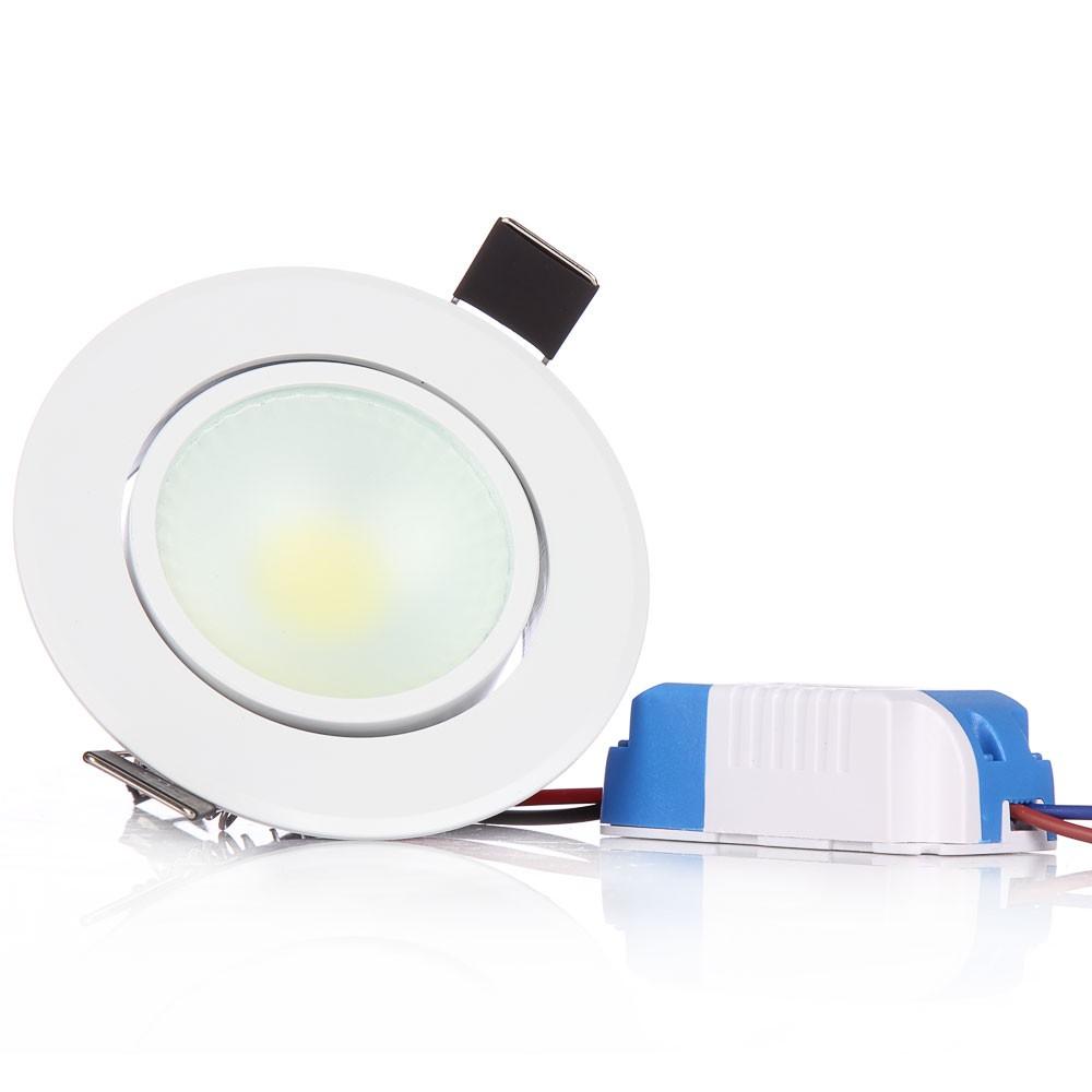 1pcs 3W 6W COB Led Spot Lights Recessed Led Ceiling Downlight 110V 220V AC85-265V for Living Kitchen Indoor Lighting