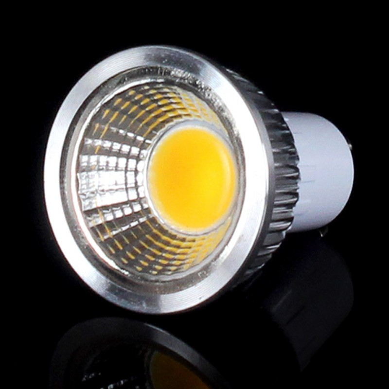 5X Super Bright Lights Dimmable 3W 5W 7W 9W Led COB Bulb Light GU10 Warm/Pure/Cool White Led Spotlights 120 Angle 700LM 110-240V