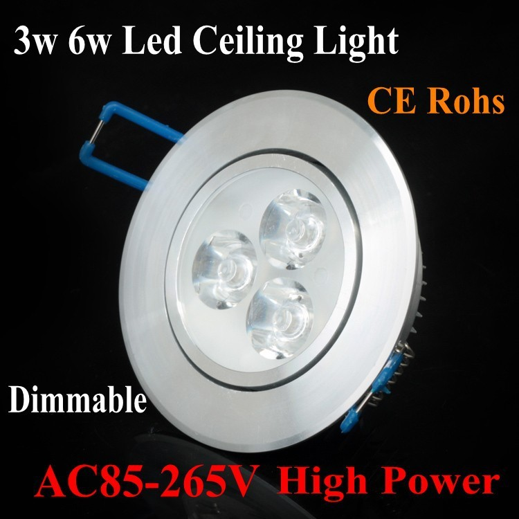 1pcs Recessed led ceiling lamps 3w 6w support dimmer Cool/85~265V LED downlight lantern indoor Lamp