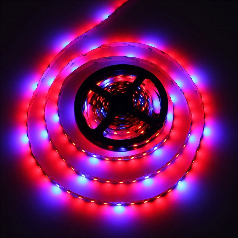 1pcs 5050 Grow LED Flexible Strip Tape Light Led Grow strip Light Aquarium Hydroponic Plant Growing Lamp 60led/m 1M 2M 3M 4M 5M