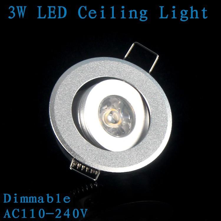 1X Round Ceiling Spot Light Mini 3W Downlights Led 110V/220V Led Lamp Warm/Cold White Indoor room Lights