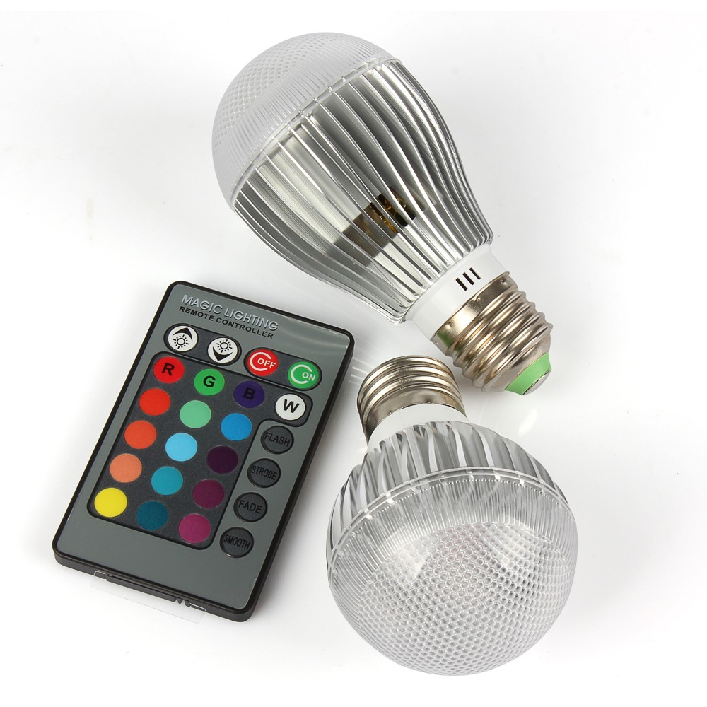 1pcs 9W 15W RGB Led Bulb E27 Spotlight 16 Colors changing with IR Remote Control Led Light Bulbs Energy Saving