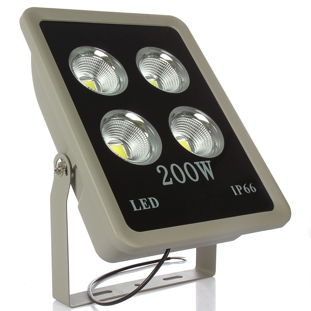 4pcs AC85-265V LED Floodlight 200W 300W 400W COB Flood Spotlight Waterproof Outdoor Lighting IP65 AC85-265V