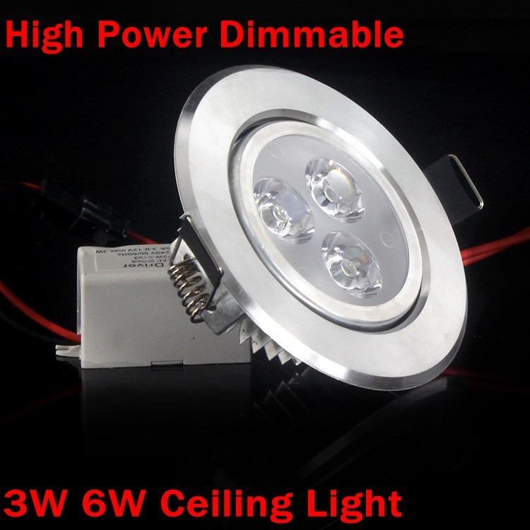 1X 3W 6W Dimmable Modern LED Ceiling Lights for living room Cold/Warm White AC110-240V LED Spotlight Downlight whit LED Driver