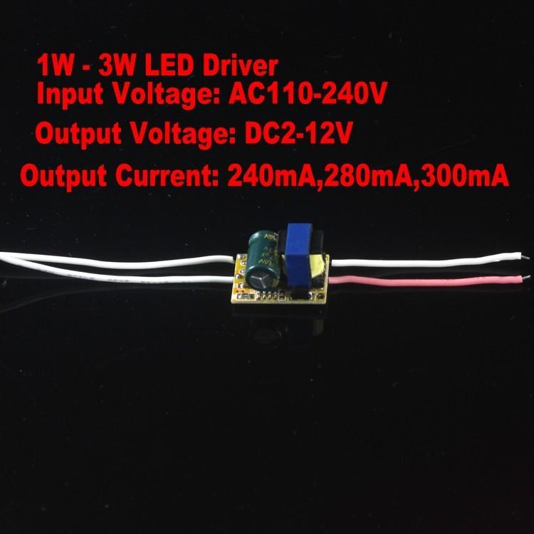 Free shipping 10pcs/lot 12V output led driver transformer 1W - 3W led driver 85-265V input for E27 GU10 LED lamp high quality