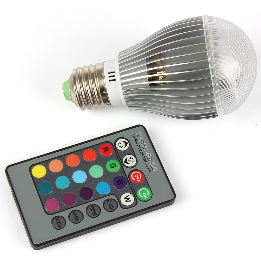 5pcs E27 RGB LED 9W 15W LED Bulb Light Bombillas Led Lights Spotlight with 24 keys Remote Controller