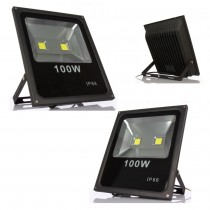 6pcs Ultrathin Led Flood Light 100W Spotlight AC85-265V Floodlight Waterproof IP65 Outdoor Lighting Wall Garden Street Lamp