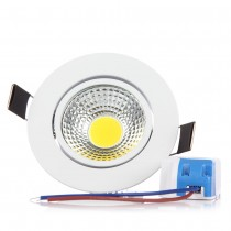 100pcs Super Bright COB Led Ceiling Light 3W 6W Dimmable Led Recessed Down Light Spot Lamp Warm/Cold White AC85-265V