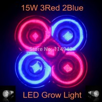 1pcs Full Spectrum E27 15W Led Grow Light Bulb High Brightness Led Light for Plant Growing 3Red 2Blue CE Rohs