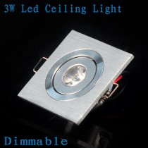 1X Led Ceiling Light 3w LED Recessed Down Lights Ceiling Lamp Cool/Warm White 110~240V LED Spot Light