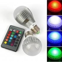 1pcs E27 RGB 9W 15W Led Spotlight AC110V 220V Led Bulb Lamp lampade led with Remote Control Led light for Home