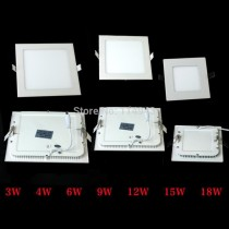 20pcs/lot 3W 4W 6W 9W 12W 15W 18W 2835SMD Warm White Ceiling LED Panel Down Light Bulb Lamp AC90-240V Square
