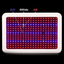 1pcs 300W Full Spectrum Led Grow Light AC85-265V Led Plants Lamp Red Blue White IR UV for Greenhouse Plants Grow Tent Box