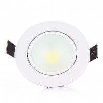 1pcs Recessed Led COB Downlight 3W 6W Ceiling Lamp Indoor Lighting with Led driver Led Spot Lighting White Body