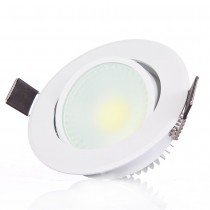 20pcs COB Led Downlight Dimmable 3W 6W Warm/Cold White Spotlight Ceiling Lamp Led Recessed AC85-265V