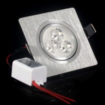 100X 3*1W 3*2W Recessed led ceiling light AC85-265V LED Down Light Square Support Dimmer Cold/Warm white