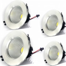 20pcs Modern Downlights COB 15W 12W 9W 7W 5W 3W Led Kitchen Light AC110V 220V 230V 240V for Home Recessed Led Ceiling Lamp