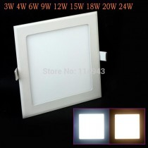 5pcs/lot Free shipping LED Panel Light AC85~265V 3w 4w 6w 9w 12w 15w 18w 20w 24w High Lumen Warm/Cold White CE & RoHS