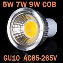 1PCS Led Spot Light 3W 5W 7W 9W GU10 COB Led Light Bulbs Light Dimmable Led Spotlight 110V 220V Ultra Bright High Quality