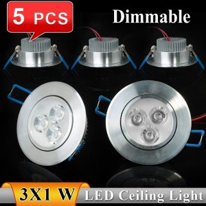 5pcs 3W 6W LED Ceiling Light Lamps Downlight CE&RoHS AC85-265v Warm White Cool white Ceiling LED Lights For Home