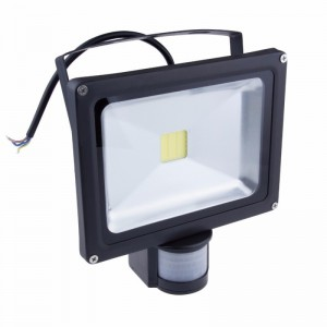1pcs Led Flood Light Motion Sensor PIR 10W 20W 30W 50W Outdoor Floodlight IP65 Waterproof AC85-265V Refletor Led Street Lamp