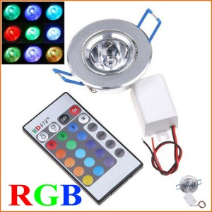 5pcs Lowest Pirice RGB down light LED recessed Down light Spot light Ceiling light IP30 waterproof include IR remote control