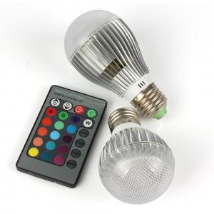 1pcs 9W 15W RGB Led Bulb E27 Spotlight 16 Colors changing with IR Remote Control Led Light Bulbs Energy Saving