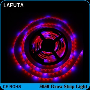 1pcs LAPUTA SMD5050 Hydroponic Systems Led Plant grow light Waterproof Led Grow Strip Light 300LEDS 72W Full spectrum Grow Box