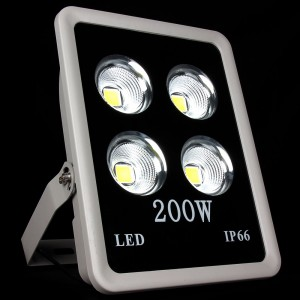 1pcs COB Led Floodlight 200W Led Spotlight Warm/Cold White AC85-265V Outdoor Lighting IP65 Waterproof for street yard